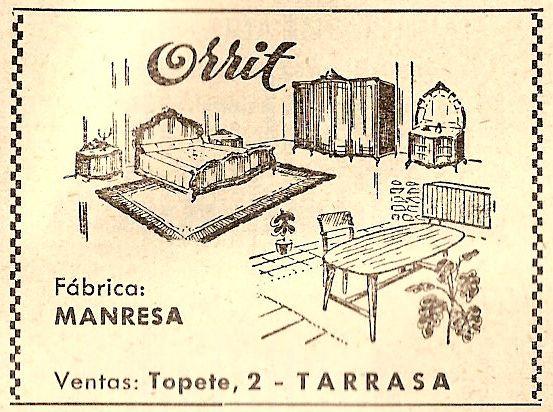 Anunci anys 50 mobles Orrit