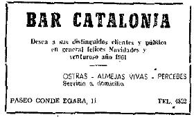 Bar Catalonia 1960