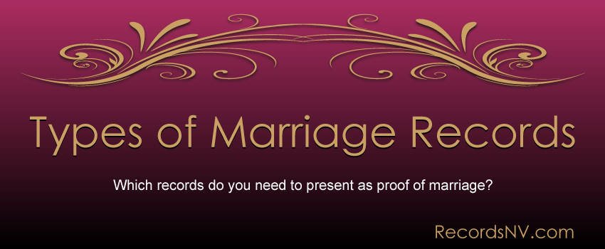 Types of Marriage Records