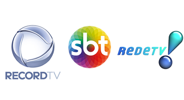 Record TV, RedeTV! e SBT