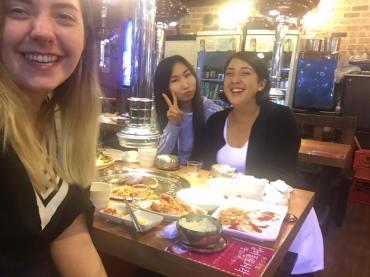 Recién llegada a Corea disfrutando sus delicias!