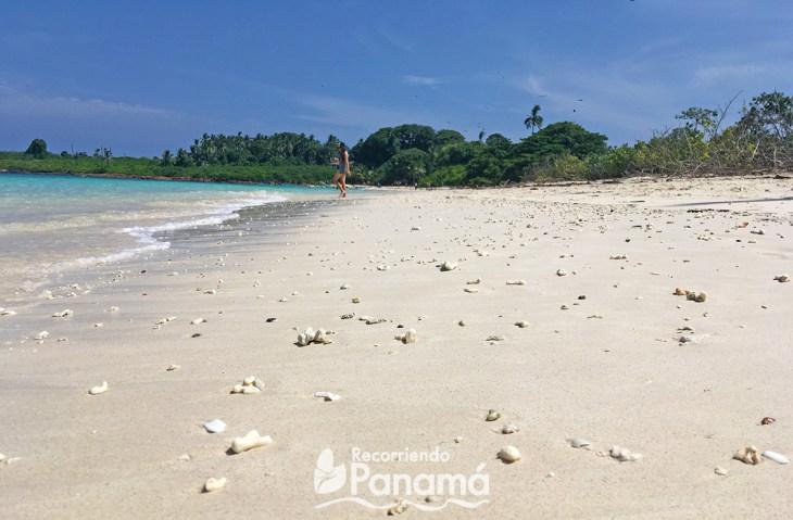 White sand of Isla Iguana