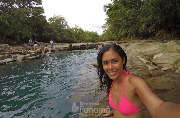 Enjoying the river. Los Cangilones of Gualaca