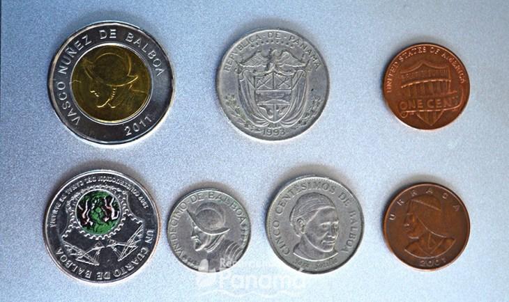 monedas en Panamá
