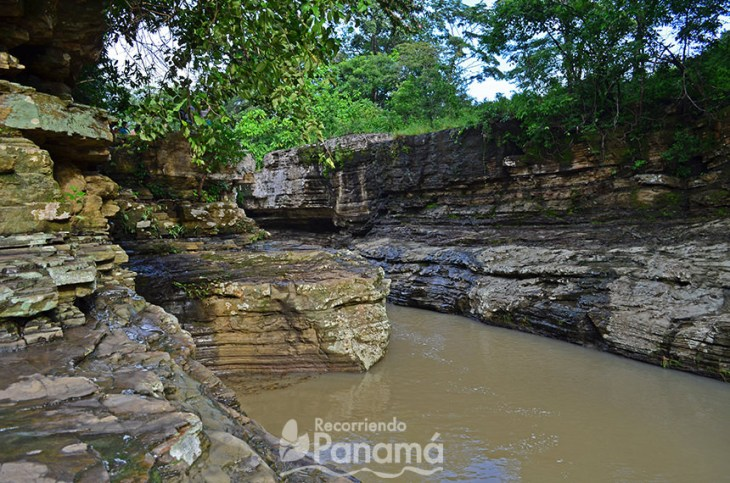 View of one of the pools of Los Cajones of Chame
