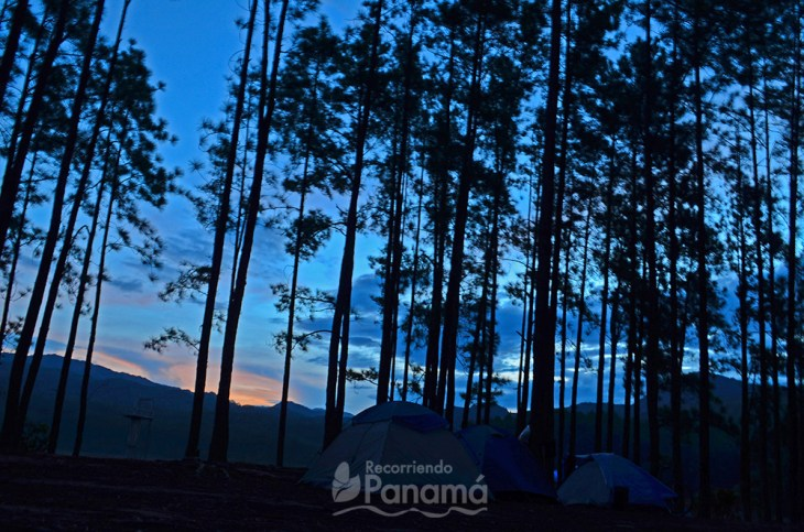 Camping nocturno.
