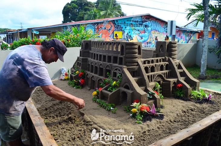 Escultura de arena.