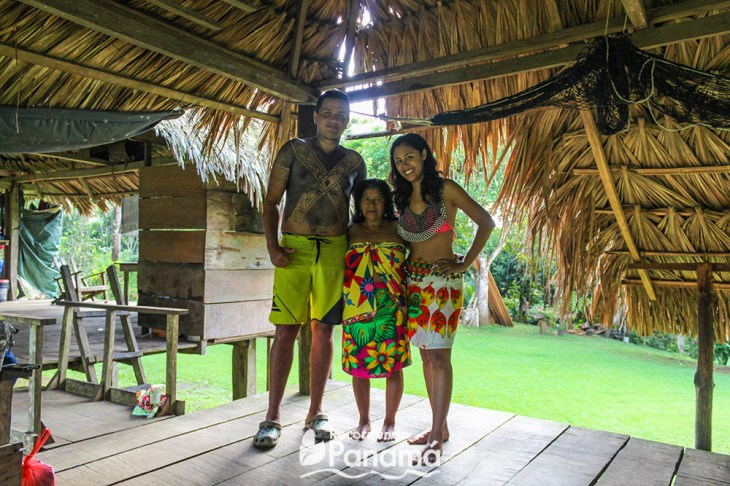 Dressed as Embera with the lady, Esterbina, and one of the adventurers, Aaron.