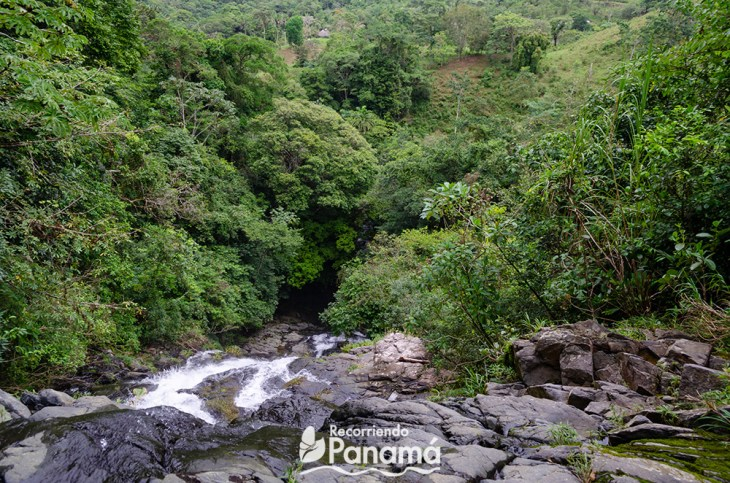 From the top of the La Gloria Waterfall