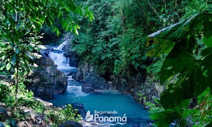 Amazing colors of Pozo Azul waterfall.