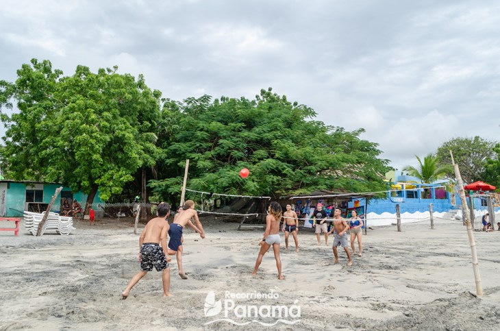 Volleyball on the beach.