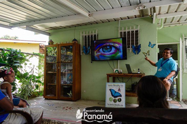 Sala de video del Mariposario de El Valle de Antón.