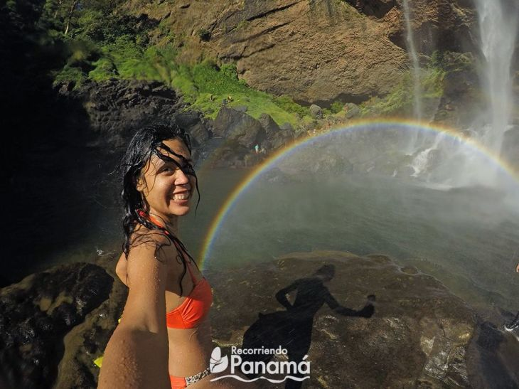 rainbow at Qui Qui Waterfall