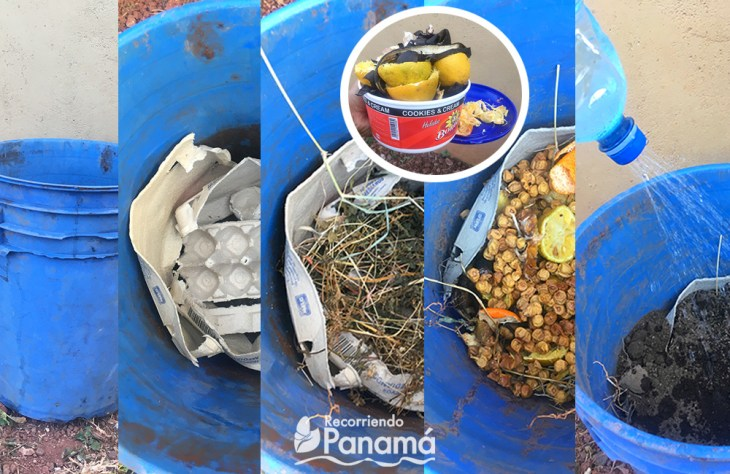 Steps to make a compost.