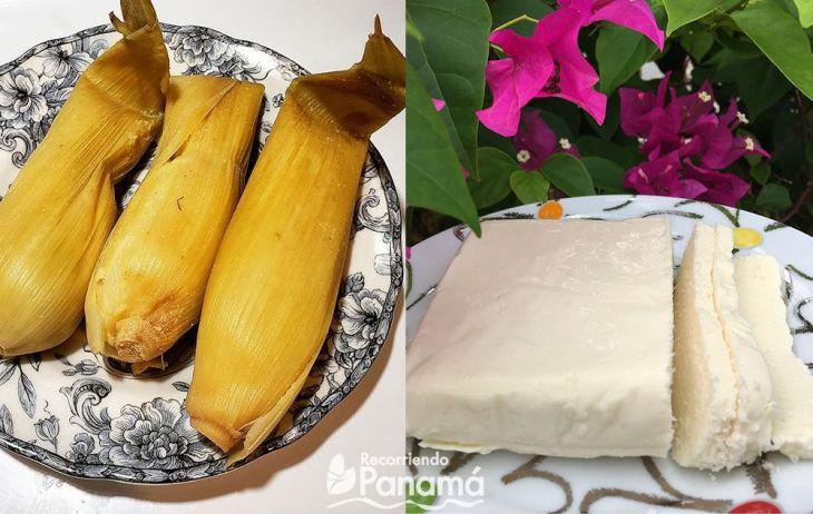 Bollo y queso molido. Desayunos Panameños.