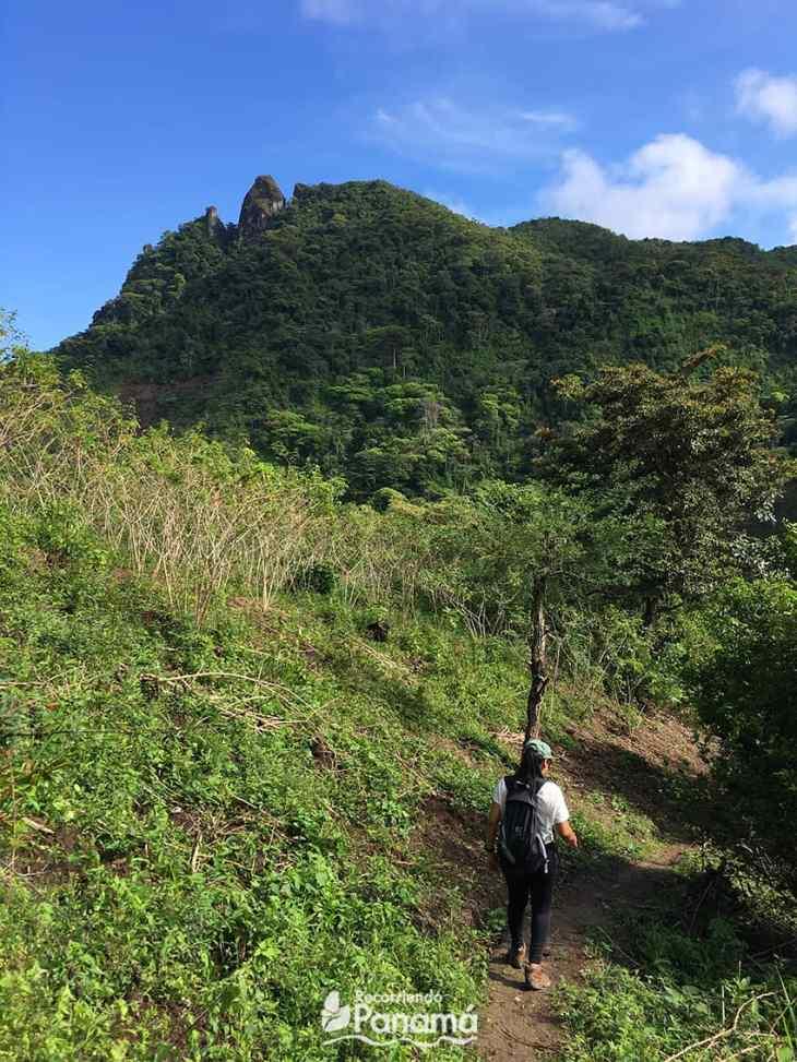 Cerro Turega al fondo