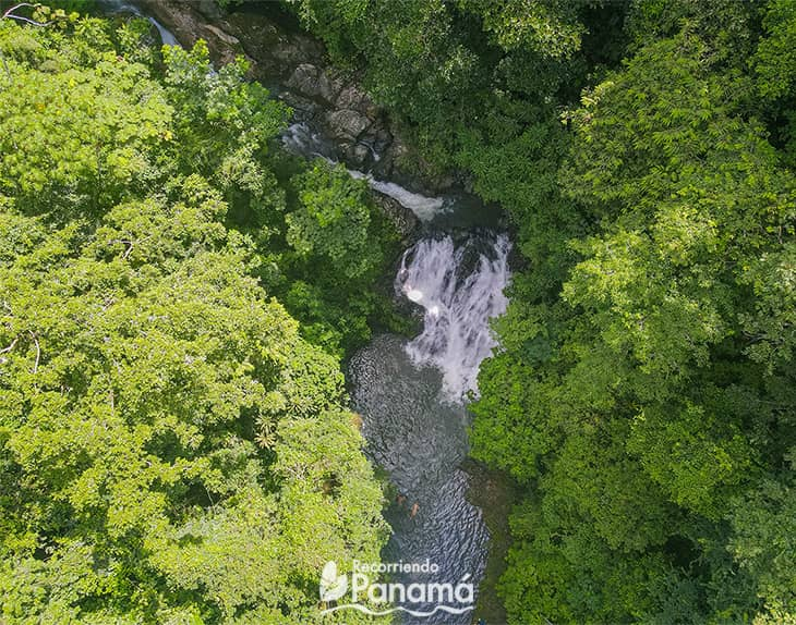 The waterfall in Chagres river.
