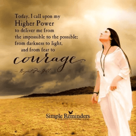 courage in higher power on justruminating men's blog
