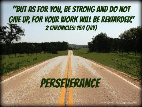 perseverance on justruminating men's blog
