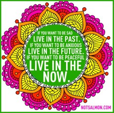living in the now on justruminating mens blog