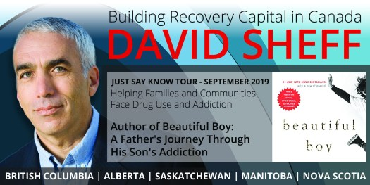 Register for Just Say Know: an evening with Author David Sheff