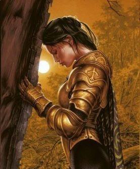 warrior woman praying