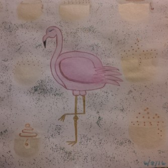 A central shot of the flamingo. <3