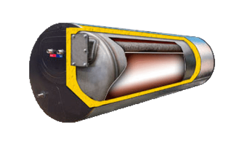 Cross Section View of Solar Water Heater