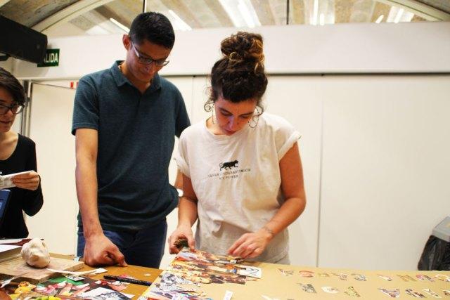 taller collage recreando estudio creativo reflexion colectivo
