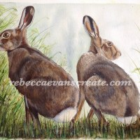 'Just the two of us' watercolour