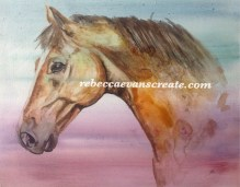Chico, an experiment on anti condensation in watercolour, I don't think I will use this as a base again, but it worked ok