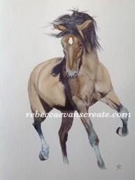 'Pony power 3' watercolour 9x12 arches cold press 140 lb
