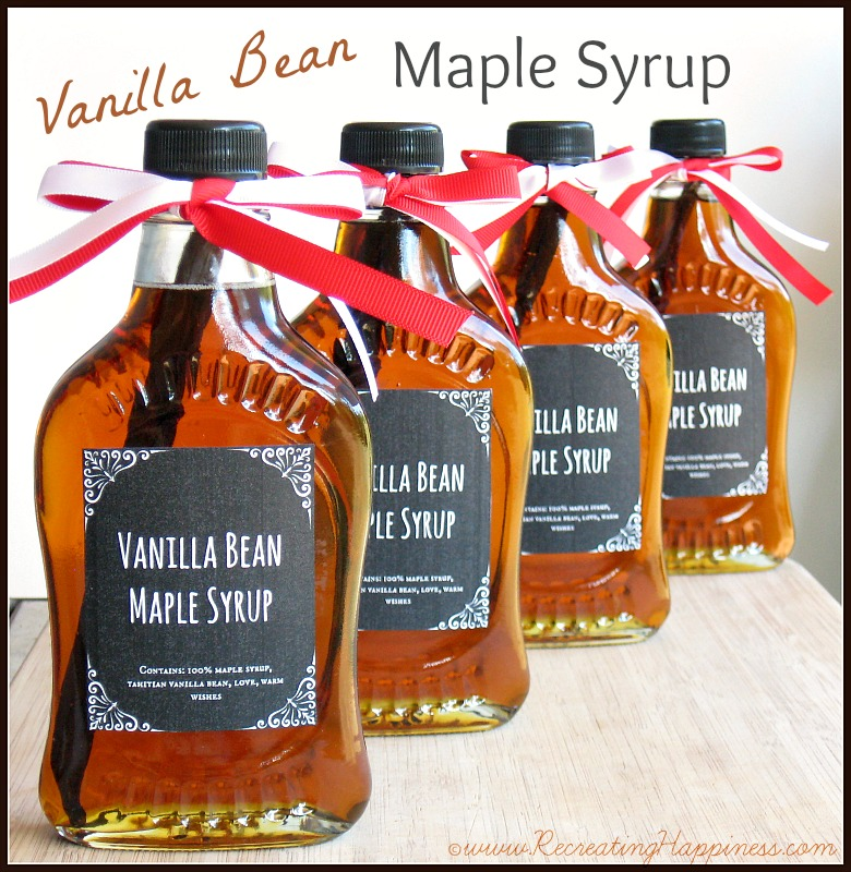 DIY: Vanilla Bean Maple Syrup | Homemade Gifts | http://recreatinghappiness.com