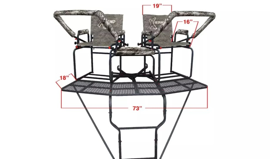 X-Stand Treestands the Comrade X 18' Two Man Ladderstand