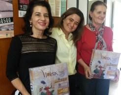 Profa. Dra. Tânia Mara Campos de Almeida e Profa. Dra. Lurdes Bandeira