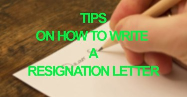How to write a job resignation letter