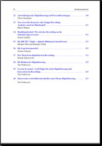 Inhaltsangabe Digitalisierung im Recruiting - Tim Verhoeven