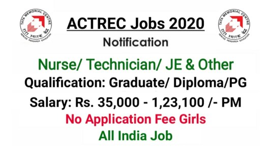 ACTREC TMC Recruitment 2020