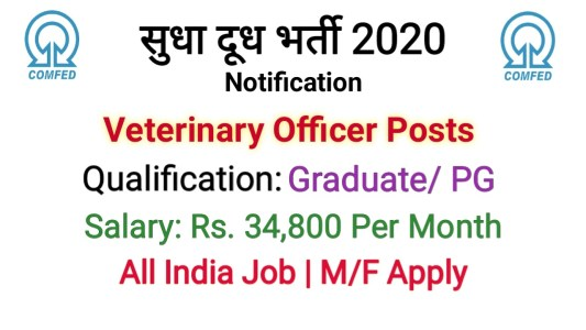 COMFED Veterinary Officer Jobs 2020