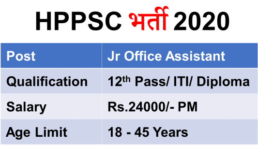 HPSSC Jr Office Assistant Jobs 2020