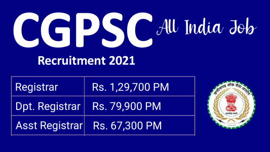 CGPSC Registrar Recruitment 2021