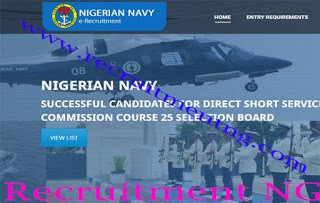 Over 800 Shortlisted Successful Candidates On Nigerian Navy DSSC Course 25 Selection Board