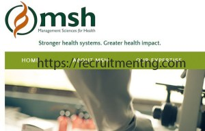 Senior Grants Specialist at the Management Sciences for Health