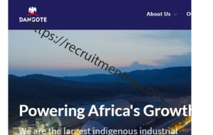 Electrical Maintenance Operation Officer at Dangote Group