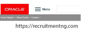 Cloud Systems Sales Consultant at Oracle Nigeria