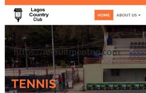 Account Manager at Lagos Country Club