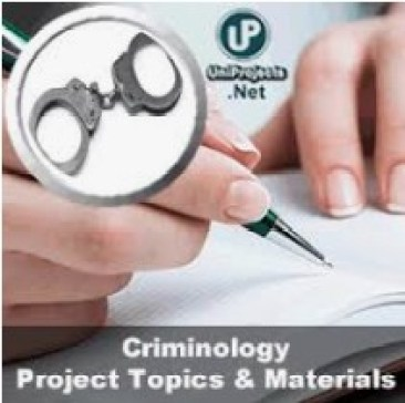 Criminology Free Project topics