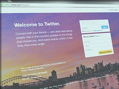 Market research on social media - Twitter login page