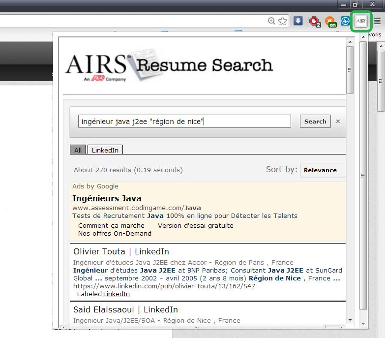 airs resume search recherche les profils sur linkedin indeed mais