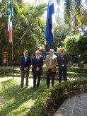 Stéphane Thys, Christian Goethals, Mtro. Francisco Javier Espinosa y Quentin Sohet
